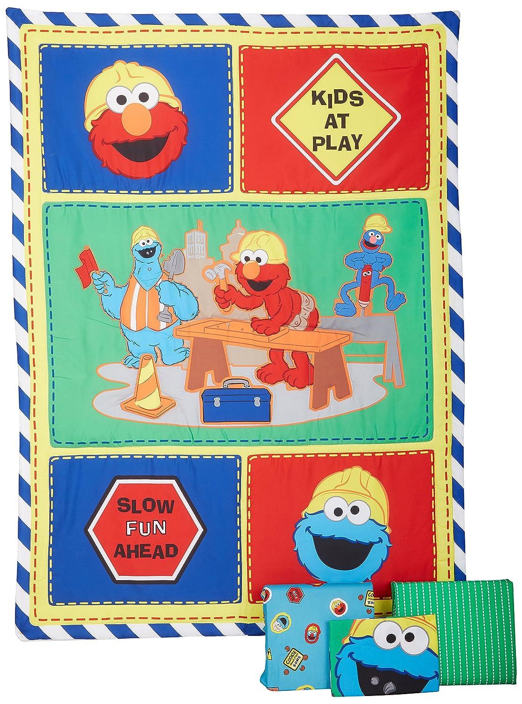 Sesame Street- Construction Zone 4 Piece Toddler Set Crown Crafts 3237414