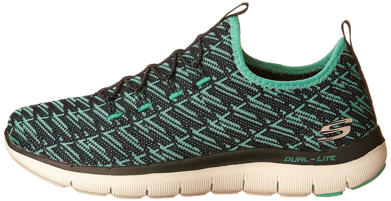 Skechers Women's Flex Appeal 2.0 Insight Sneaker B01IVNENSC 10 B(M) US|Navy Green