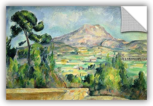 24 x 36 ArtWall Paul Cezannes Montagne Sainte Victoire II Art Appeelz Removable Graphic Wall Art