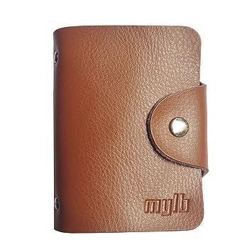 MYLB Tarjeta de Crédito Funda de Piel para Tarjetas de ...