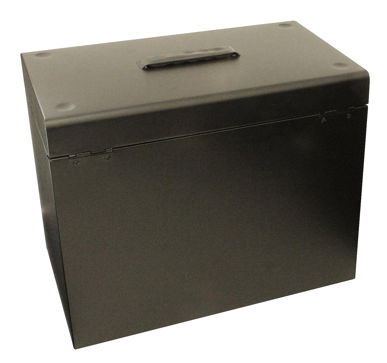 H/ängemappenbox Ablagebox aus Metall, A4 rot