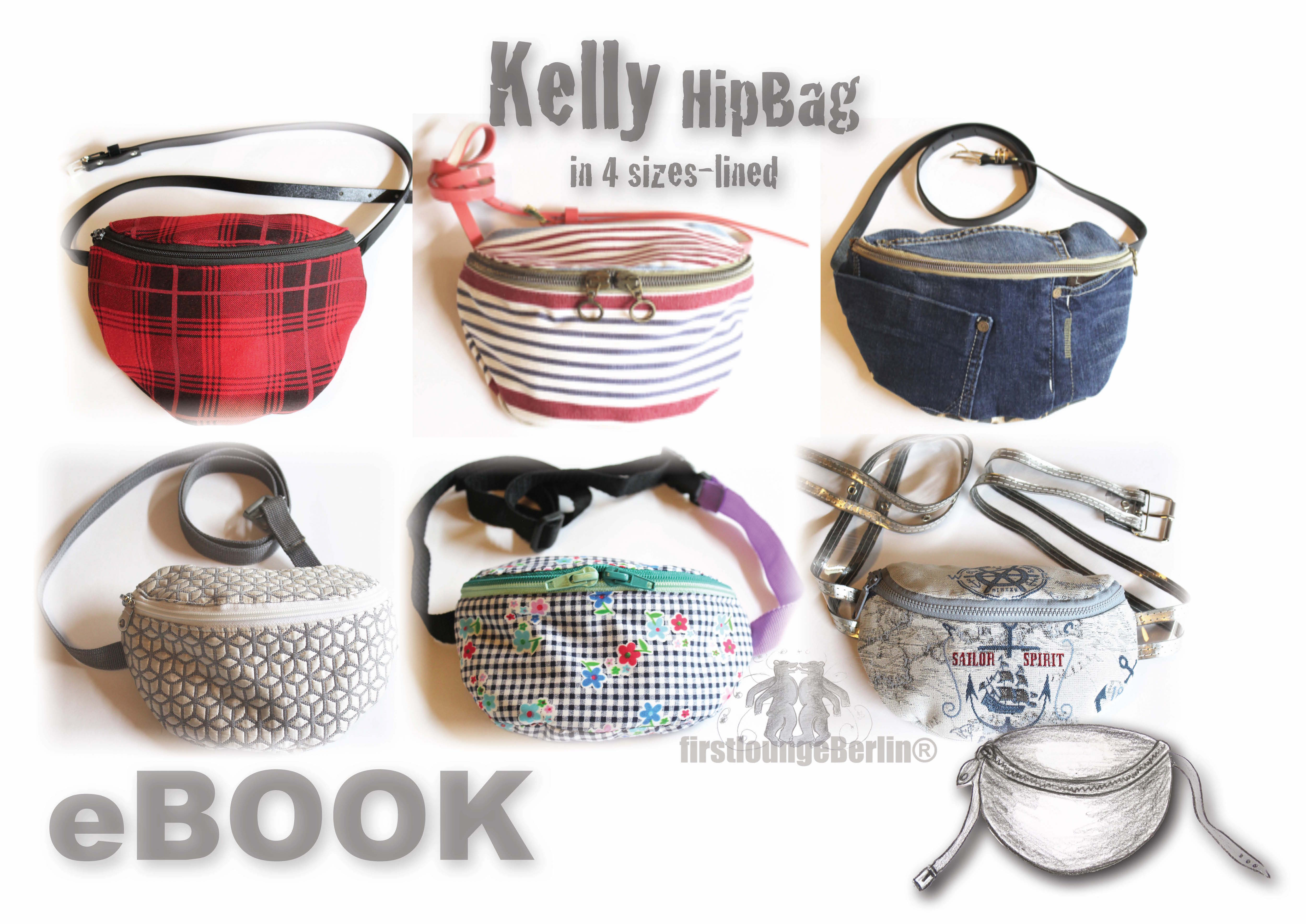 Price comparison product image Kelly Hip Bag, Hip Pocket Pouches, in 4 sizes XS-L [Download]