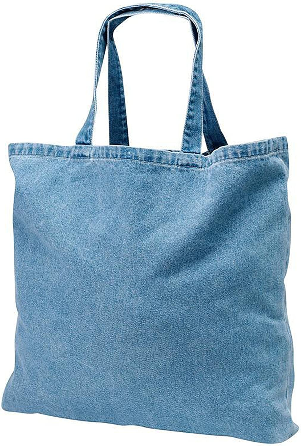 Heavy Duty Cotton Washed Denim Tote Bag