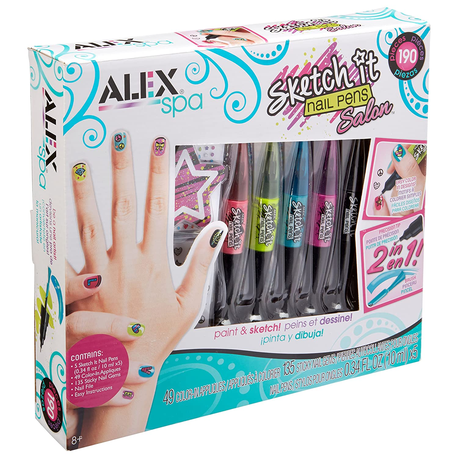 Amazon.com: ALEX Spa Sketch It Nail Pens Salon: Toys & Games
