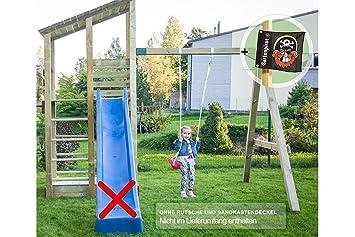 Stabiler Spielturm Mit Schaukel Für Kinder Im Garten   Spielanlage XL Von  Gartenpirat®