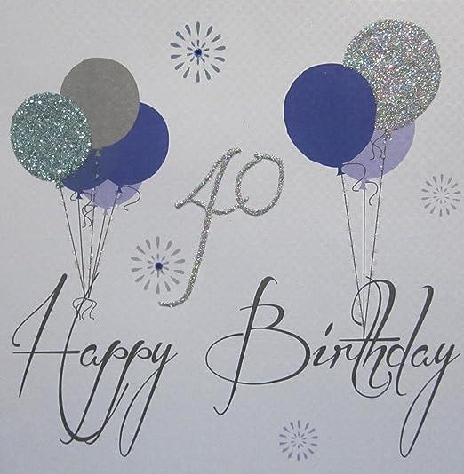 White Cotton Cards Code xg67 - 40 Globos Feliz cumpleaños 40 ...