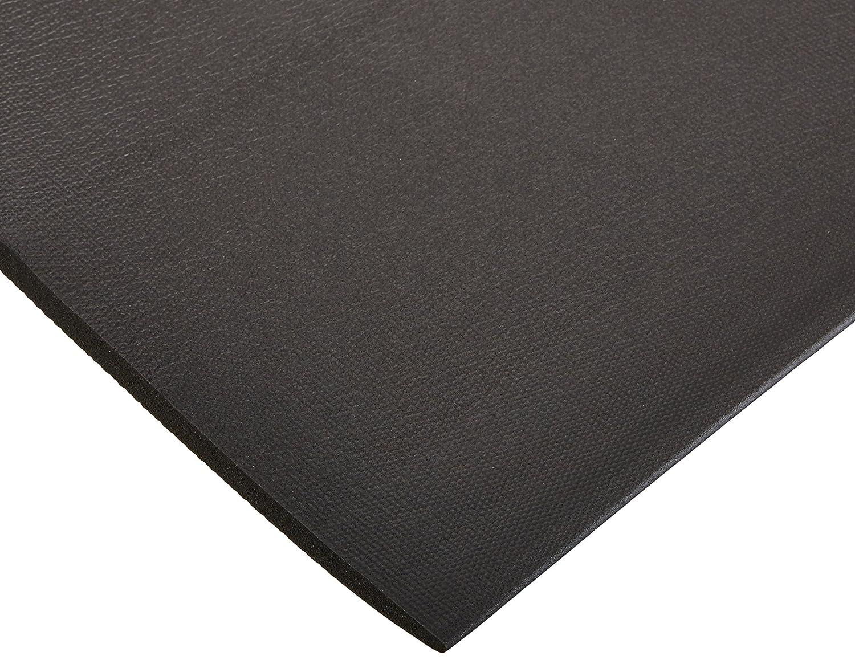 4 Wide x 7 Long x 3//8 Thick Made in USA Textured Pattern Bertech Anti Fatigue Vinyl Foam Floor Mat Gray