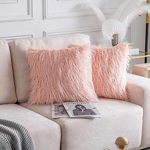 Amazon.com: Home Brilliant Decorative Faux Fur Euro Sham Throw