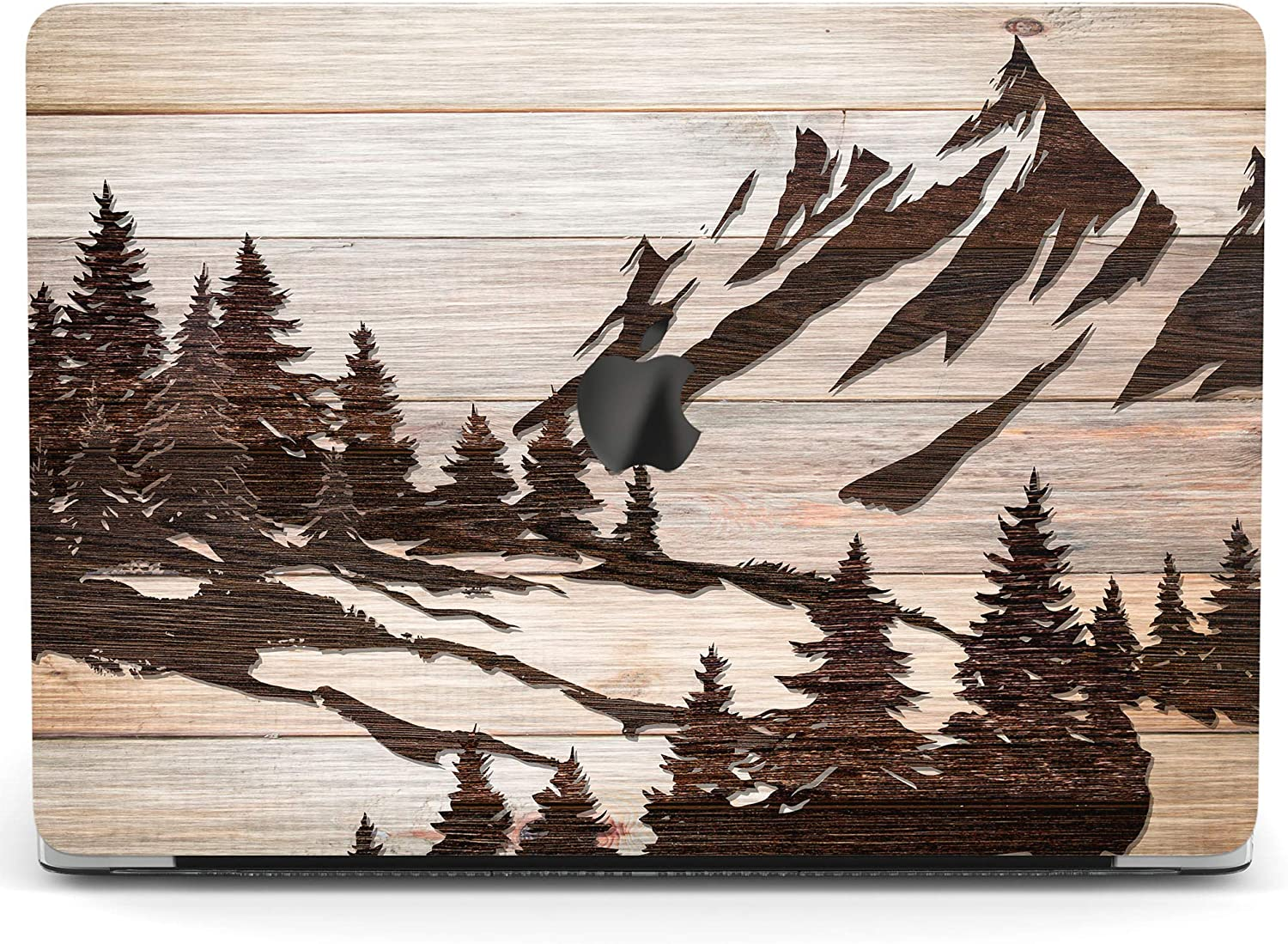 Wonder Wild Case for MacBook Air 13 inch Pro 15 2019 2018 Retina 12 11 Apple Hard Mac Protective Cover Touch Bar 2017 2016 2020 Plastic Laptop Print Mountain Art Travel Wood Forest Landscape Carving