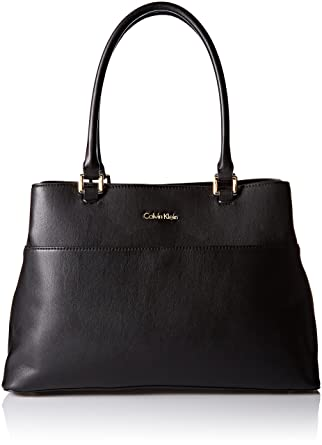 ce58412ab7 Amazon.com: Calvin Klein Novelty Tote with Pouch, Black: Clothing