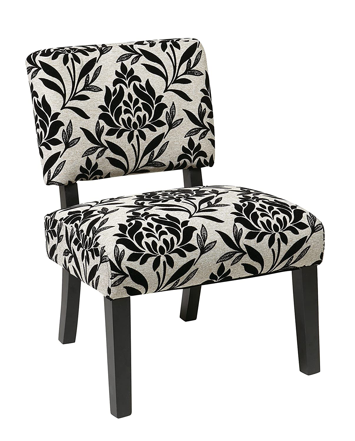 amazoncom ave six jasmine accent chair with espresso finish solid wood legs paradise kitchen u0026 dining