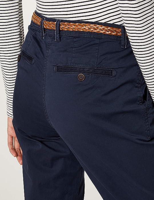 c8e56eec2c1816 TOM TAILOR für Frauen Hosen   Chino Chino Slim mit Gürtel real Navy Blue