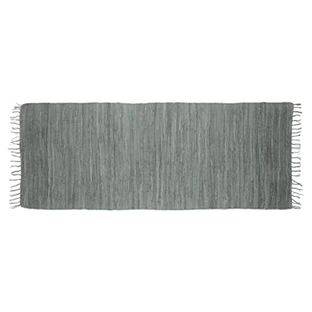 98be51ea4 Relaxdays Rag Rug 80 x 200 cm with Fringes Made of 100% Cotton ...