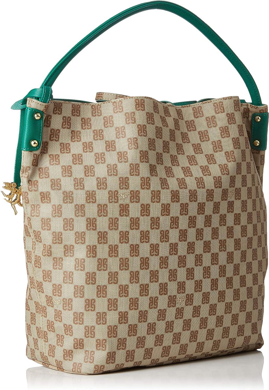 Piero Guidi Reversible Hobo Bag - Shoppers y bolsos de hombro Mujer Verde (Verde Bottiglia) xy0I22zg