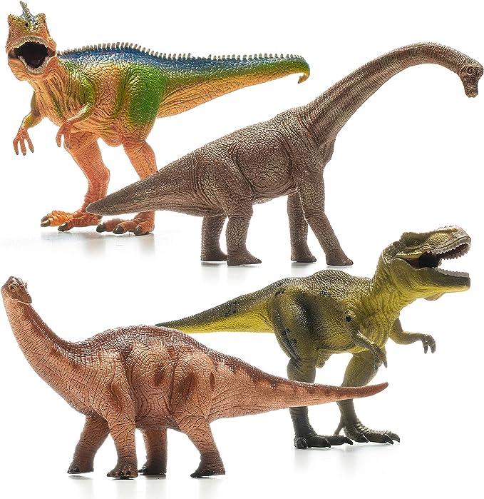 "6 Pack 7/"" Large Size Plastic Dinosaur Set for Realistic Dinosaur Figure Toys"