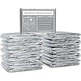 Swiss Safe Emergency Mylar Thermal Blankets (Bulk 10pk, 25pk) - Designed for NASA, Outdoors, Hiking, Survival, Marathons or F
