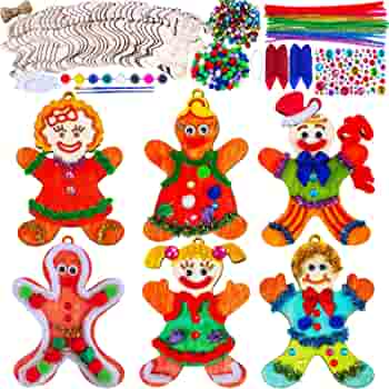 Christmas Gingerbread Man Unfinished Wood Shape Piece Cutout for Craft Projects