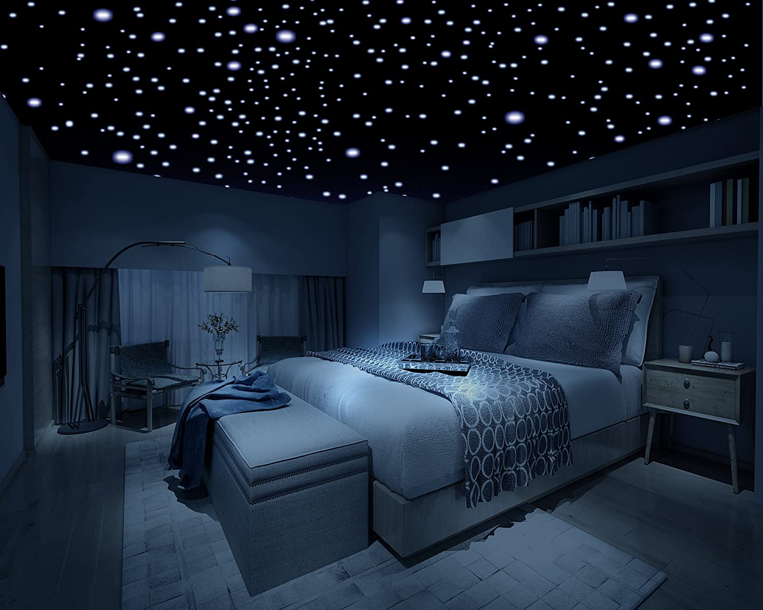 Bedroom ceiling lights stars - Firefly Realistic 3d Domed Glow In The Dark Stars 600 Stars