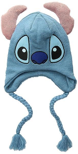 Disney Men s Stitch Winter Hat with Ears c3ec527dde6