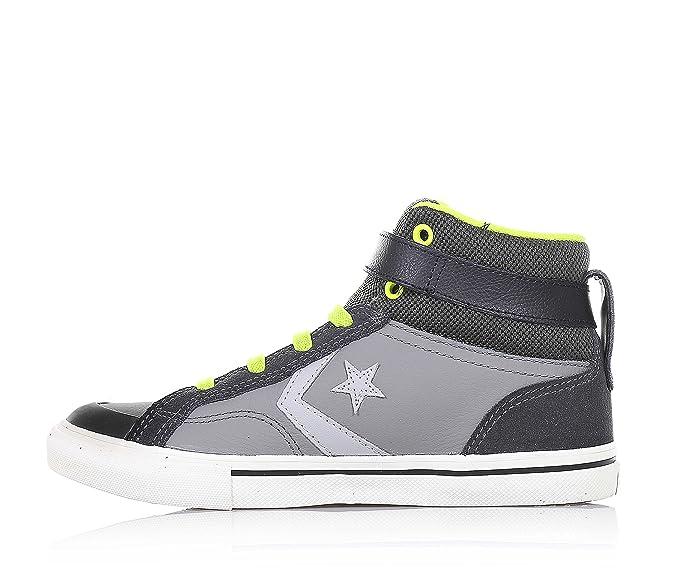 Amazon.com | Converse Boys Blaze Strap Hi Color Mason/Beluga/Bold Lime Size 6 | Sneakers