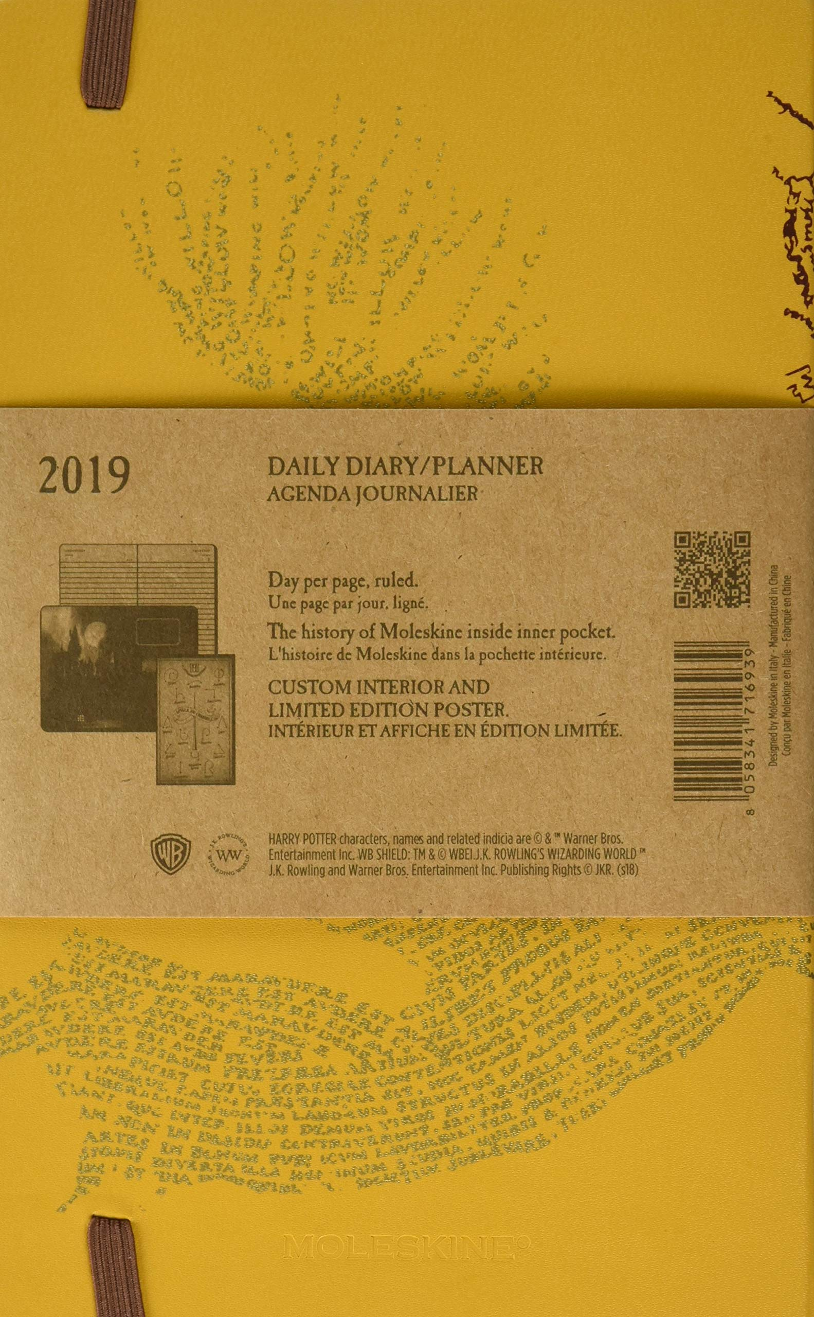 Moleskine Harry Potter Daily Dairy / Planner, Large, Beige ...