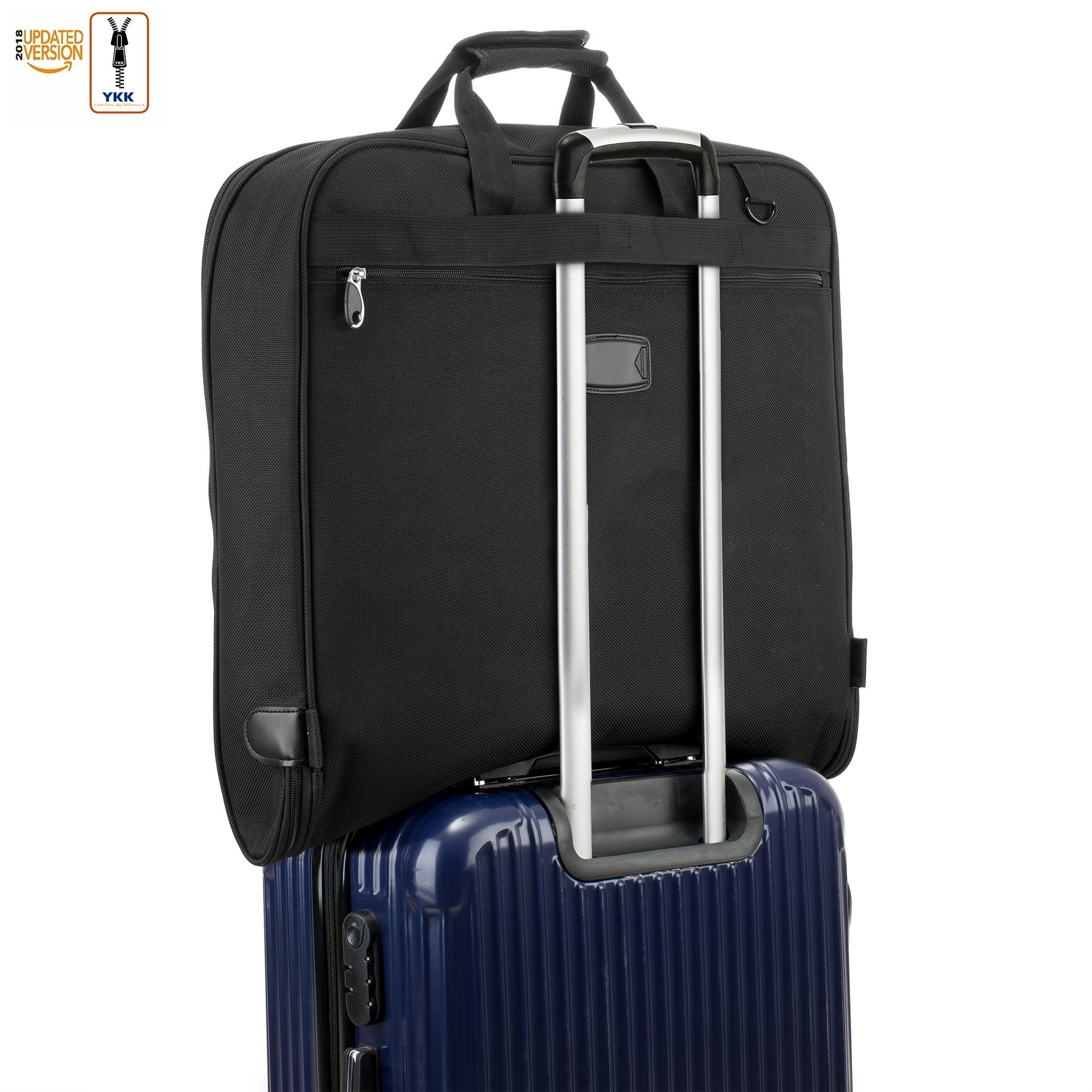 3 Suit Carry On Garment Bag for Travel & Business Trips With Shoulder Strap 40'' Bagazzi Brand by Bagazzi (Image #5)