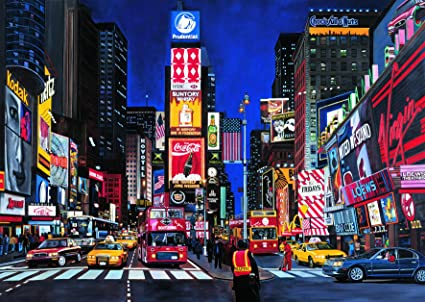Educational Jigsaw Puzzles 1000 Piece New York Times Square Decor Puzzle