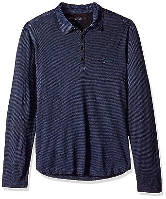 John Varvatos Hombre K3925U3B BOP31B Manga Larga Camisa Polo ...
