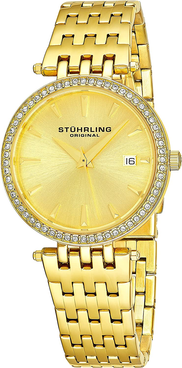 Stuhrling Original Women s Soiree Swiss Quartz Swarovski Crystals Date Watch 579 Series