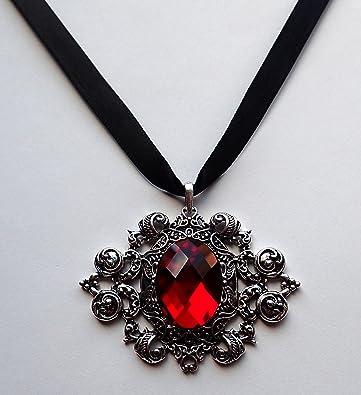rubby necklace,snail jewelry wings neckla wooden necklace seashell jewelry Black wood necklace black angel gothic jewelry dark fashion
