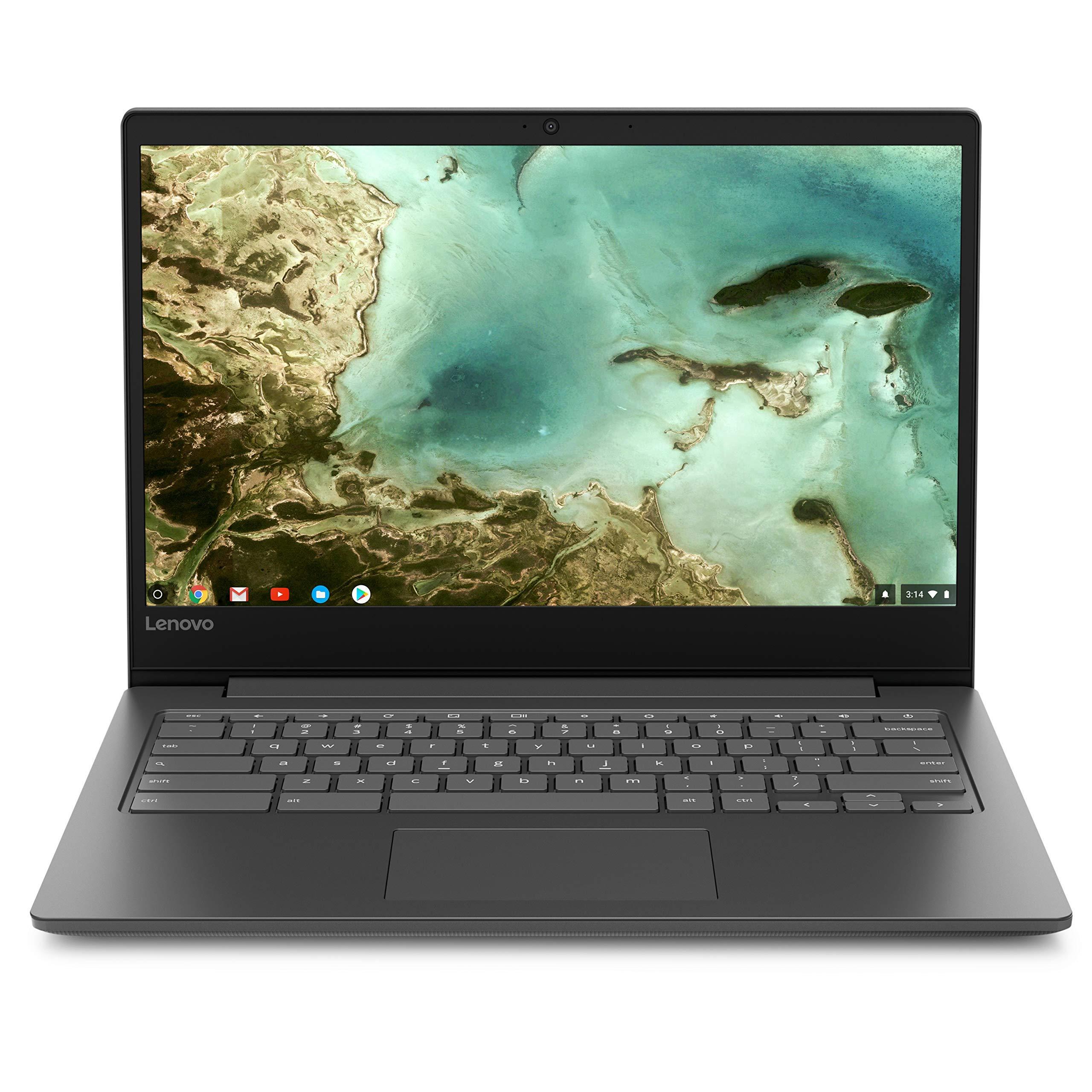 Newest Lenovo Flagship Chromebook S330, 14'' HD Display, MediaTek MT8173C Processor, 4GB Memory, 32GB eMMC SSD Storage, Webcam, Bluetooth, HDMI, SD Card Reader, USB-C, Chrome OS (Renewed)