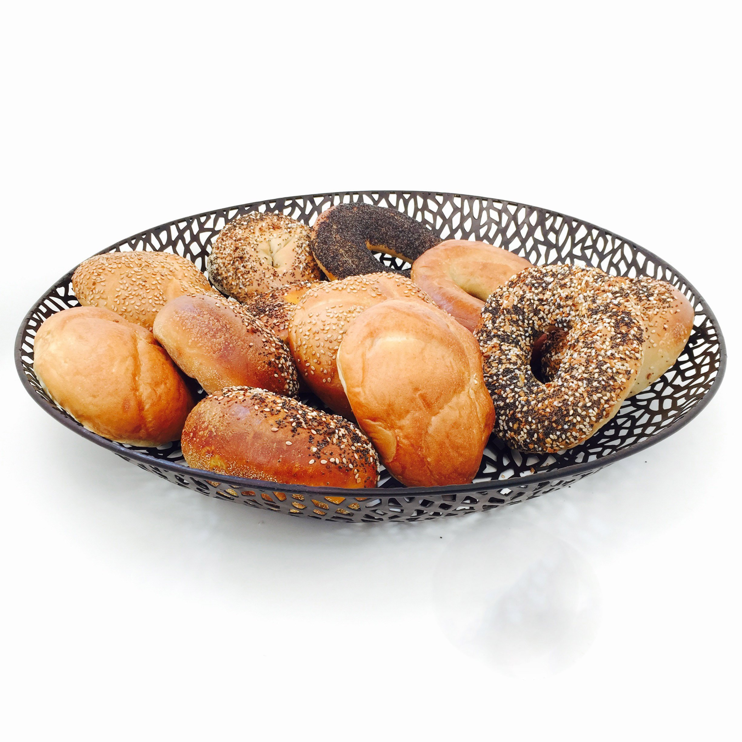 Whole House Worlds The Super Oversized Metal Basket for Serving Bread or Fruit, 18 ½ Inches By