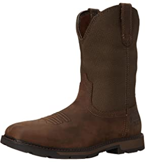 Amazon.com | Ariat Men's Groundbreaker Pull-On Work Boot Round Toe ...
