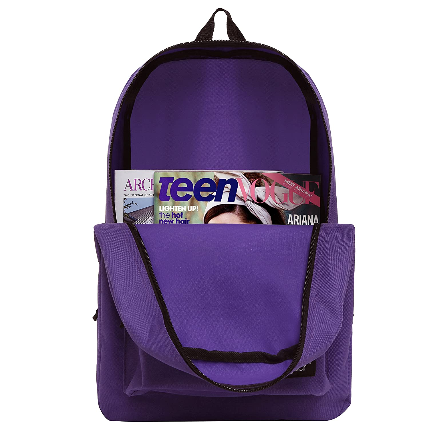 31f6a5a77d Wholesale TrailMaker Classic 16.5 Inch Bookbags for Girls - Case of 24 Bulk School  Bags - Plum   Pink   Purple   Turquoise  Amazon.co.uk  Clothing
