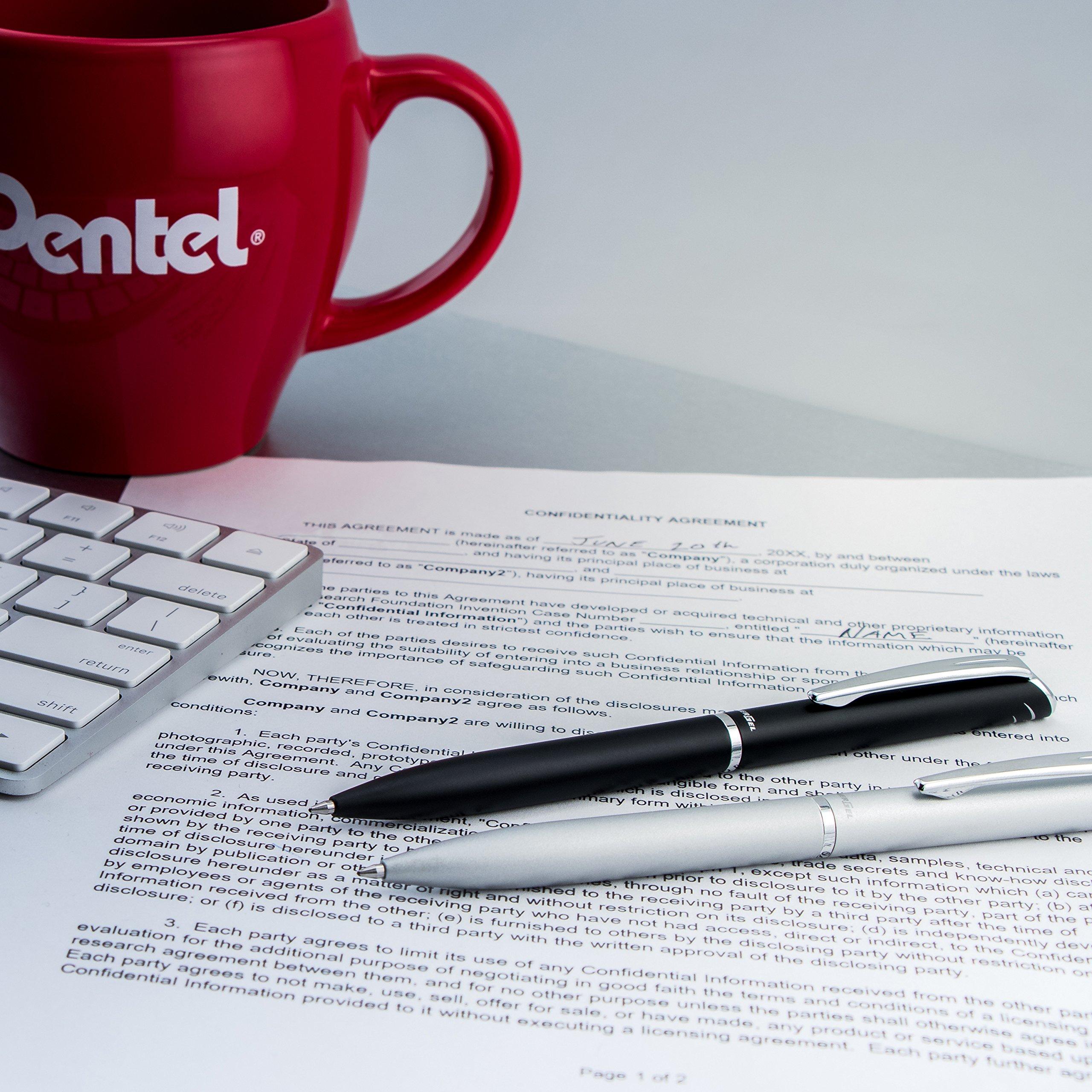 Pentel EnerGel Style Gel Pen, (0.7mm) Medium Line,Teal Blue Barrel - BL2007SABX by Pentel (Image #7)