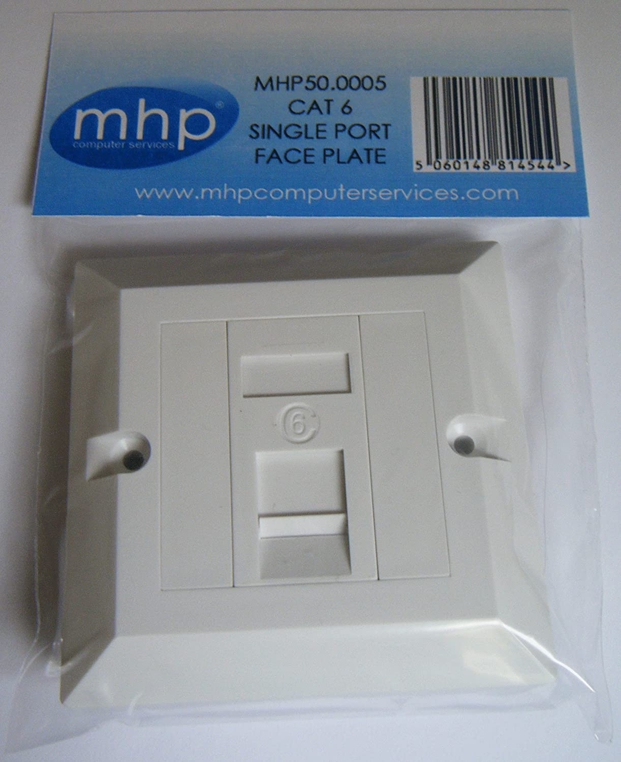 Amazon.com: MHP® Single Socket Cat 6 RJ45 Wall Face Plate / LAN ...