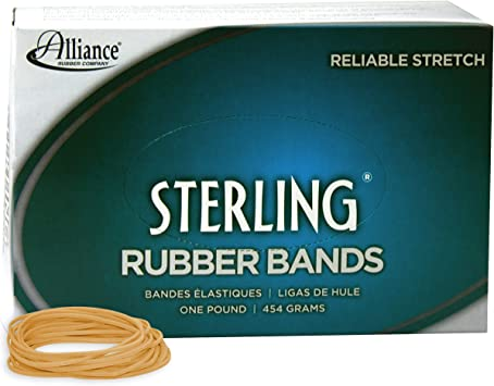 1 lb Box Contains Approx 300 Ban Alliance Rubber 24825 Sterling Bands Size #82