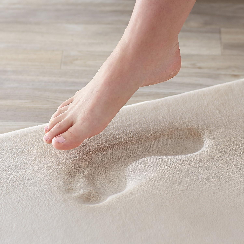 beige Basics Scendibagno in memory foam 46 x 71 cm