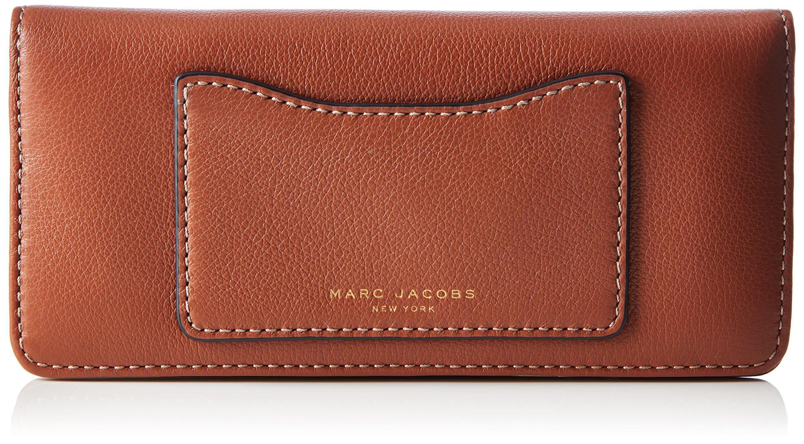 Marc Jacobs Women's Recruit Open Face Wallet, Cognac, One Size