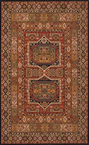 Momeni Rugs Persian Garden Collection, 100 New Zealand Wool Traditional Area Rug, 5 x 8 , Black