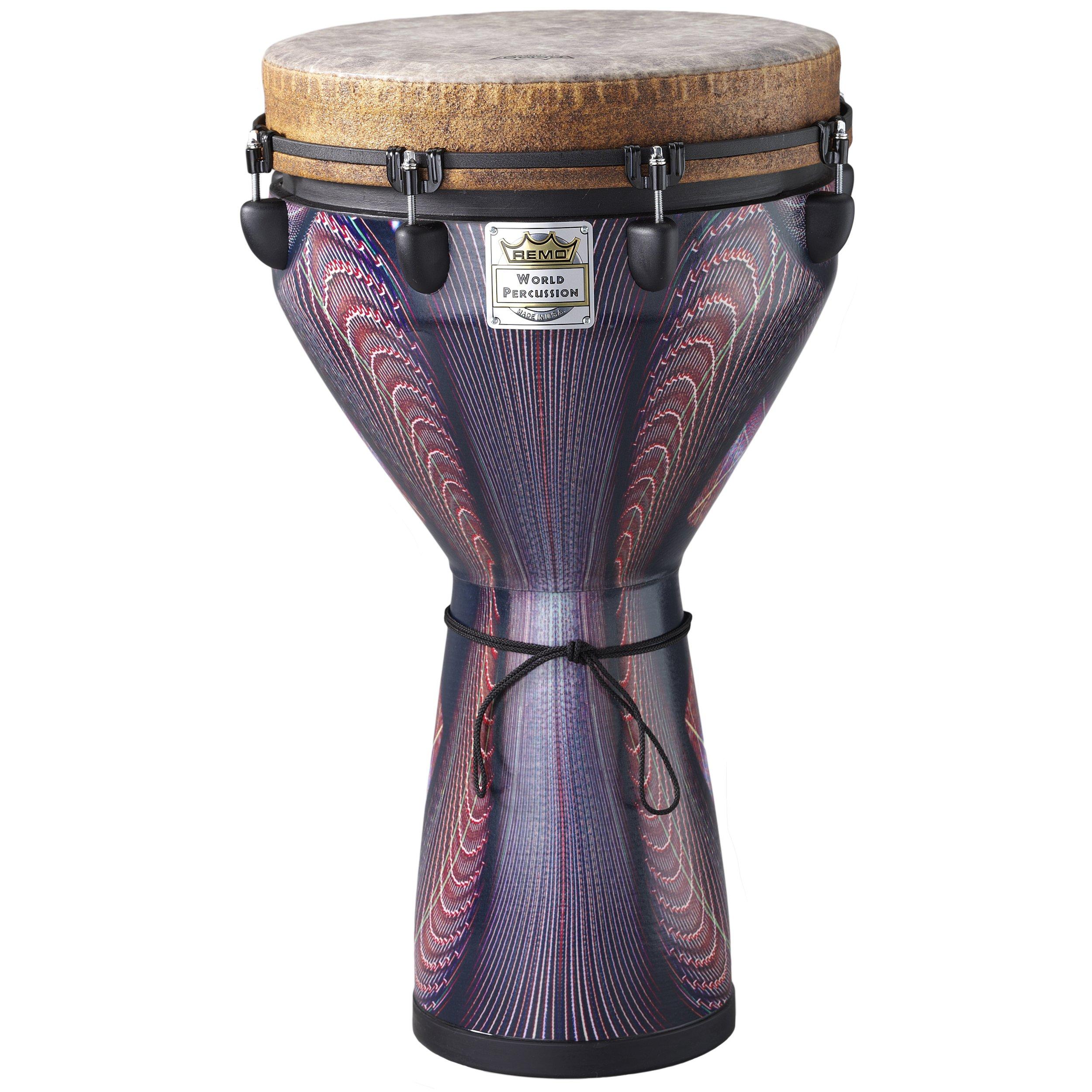 Remo DJ0014-36 14 x 25- Inch  Mondo Djembe Drum- Salsa Deco