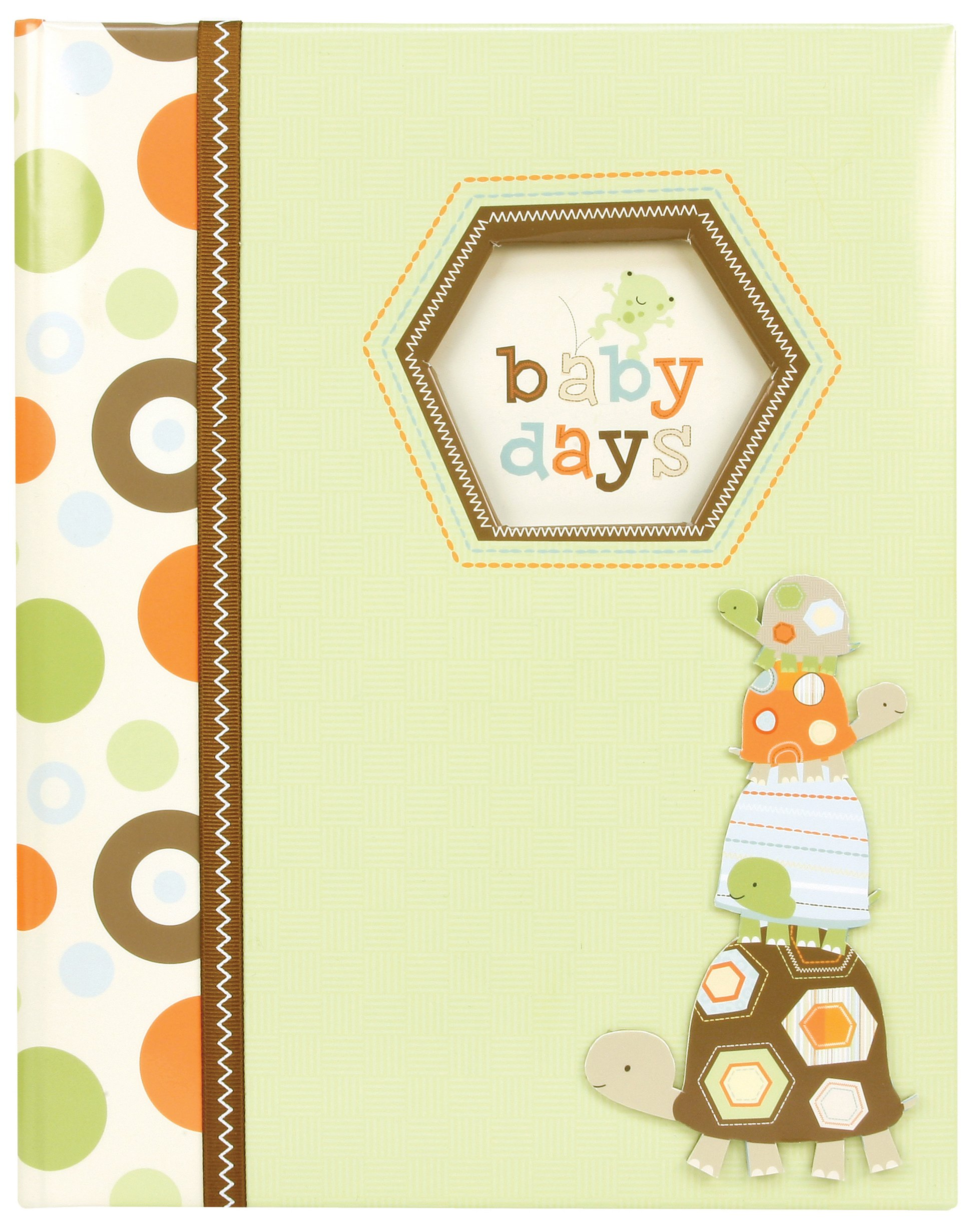 Carter's Green Polka Dot Animal My First Years Bound Memory Book for Babies, 9'' L x 11.125'' H, 60 Pages