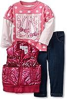 Baby Togs Baby Girls' 3 Pack Vest Set