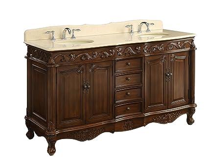 64 Benton Collection Beckham Antique Double Sink Bathroom Vanity