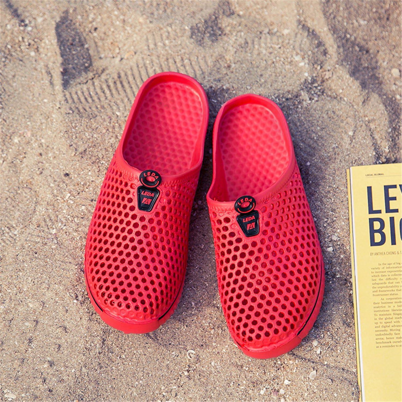 Herren Crocband Clogs Sandalen Flache Strandschuhe Atmungsaktiv Mesh Badeschuhe