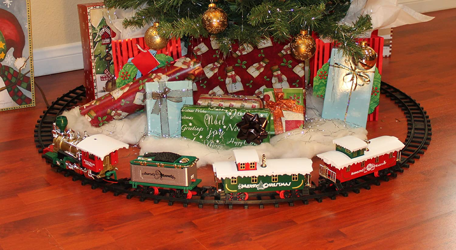 amazoncom toystate santas village express holiday christmas train set toys games