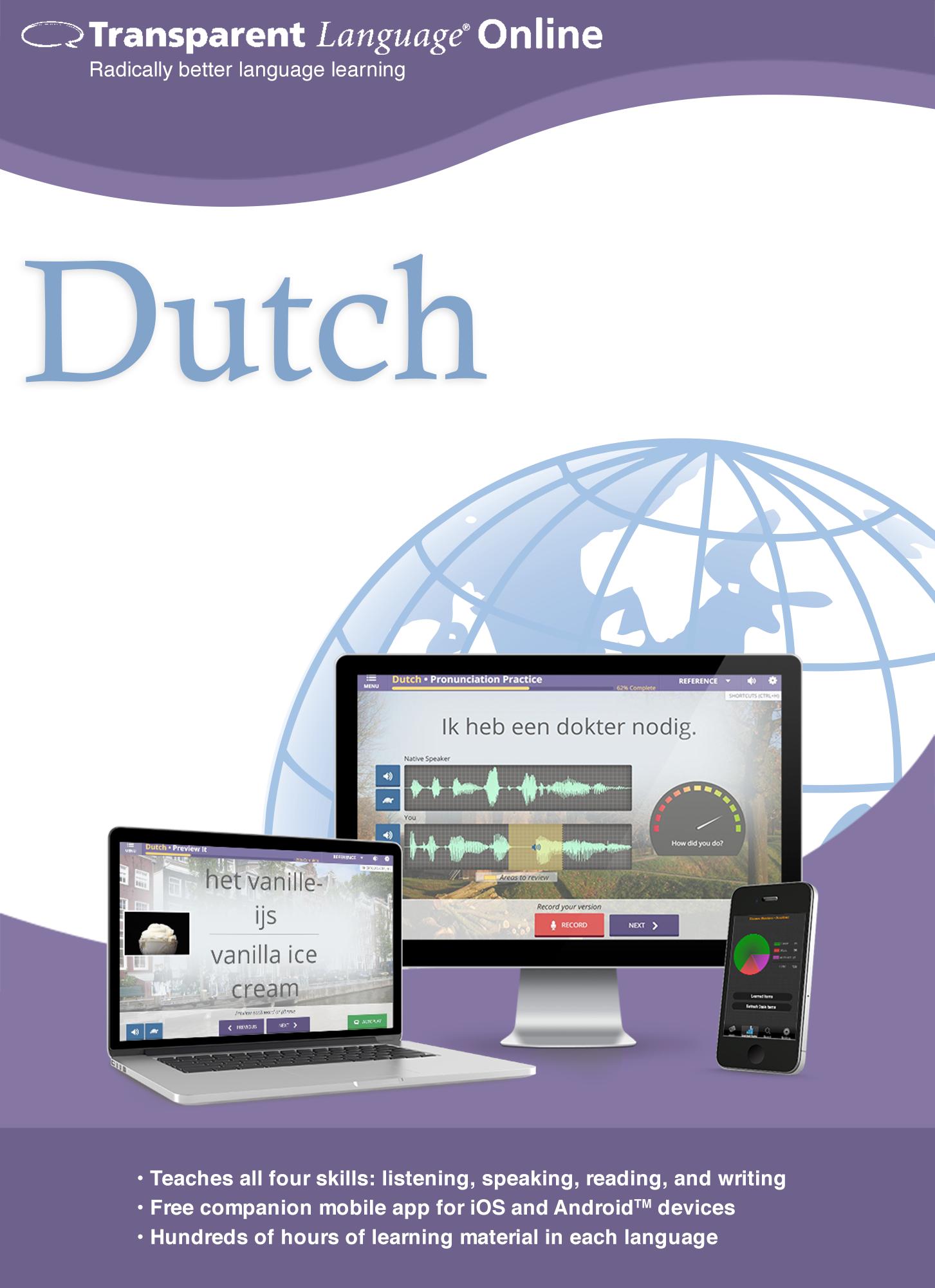 Transparent Language Online - Dutch - 12 Month Subscription [Online Code]
