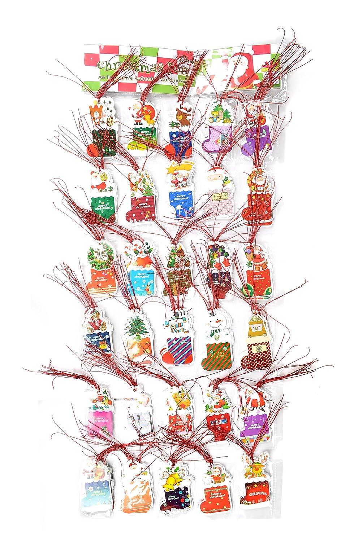 Amazon.de: Damara Merry Christmas String Aufhängen Tags für ...