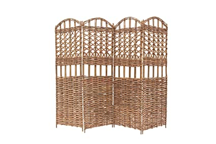 Ordinaire Master Garden Products 4 Panel Willow Screen Divider, 72 By 60 Inch