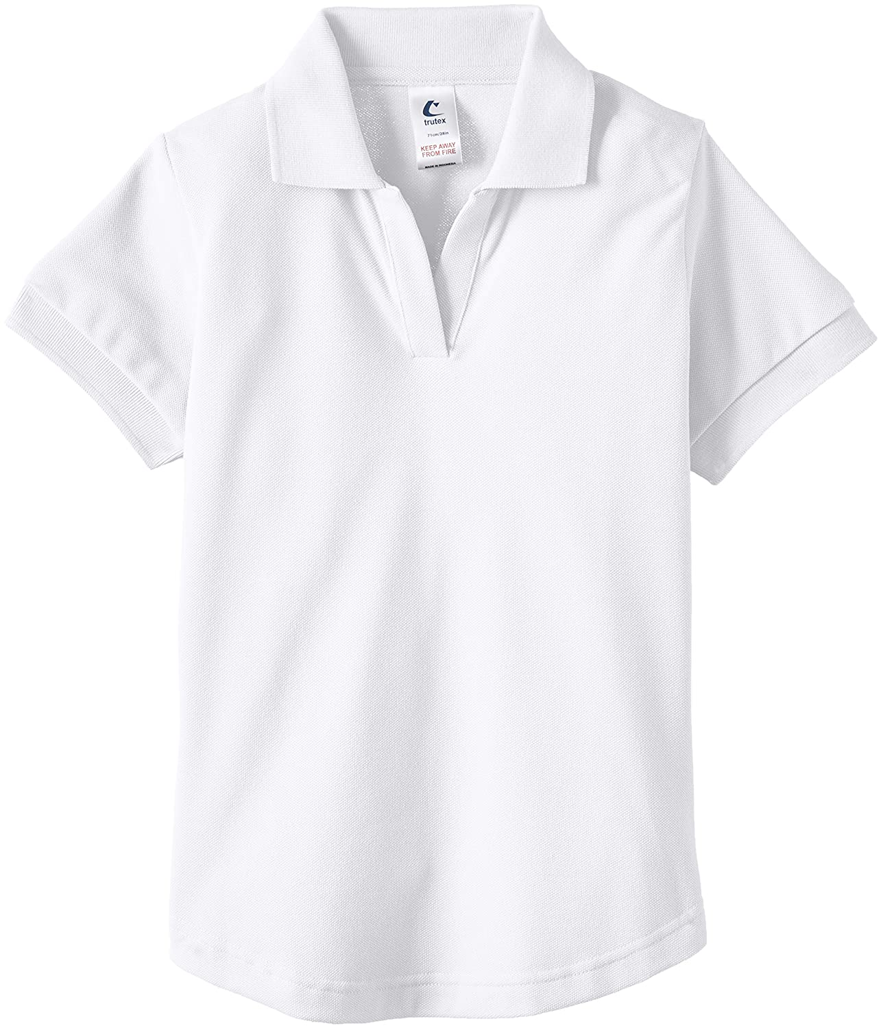 Trutex Fitted Games Shirt, Short Sleeve per Bambine e Ragazze STA-WHT-28
